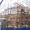 大きなロフトのある平屋建てのモデルハウス、上棟しました
