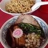 [ま]臭みのない豚骨スープの豚そばがウリの「笑堂」のつけそばは魚介風味&極太麺 @kun_maa