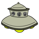 アダムスキー型UFO のイラスト
