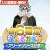 アリーナ記念:選べる☆6確定ガチャ