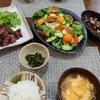 【料理】ズボラな私の晩御飯!中落カルビ・豆腐サラダほか