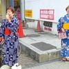 17日、福島市女性後援会とともにゆかた宣伝。