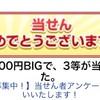 100円BIGで24,733円が当選しました(≧∀≦)