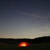 ソロキャンプ・テント・ヒルバーグナロ2GT・夜に輝く
