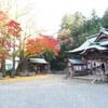 湯本町温泉神社 紅葉ライトアップを見てきました