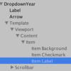 【Unity】DropDown内にあるitem Labelのサイズを変更する方法
