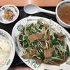 定食春秋(その 18)ニラレバ炒め定食、ライス少なめ