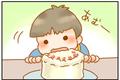 次男1歳【絶対に手づかみ食べしないでござる】