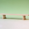 通常型と短足型 2種類の豆八足台を組み合わせて二段式にする