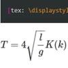 Texによる数式表現40~楕円積分
