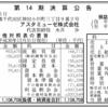 アスタミューゼ株式会社 第14期決算公告