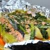 【水煮筍で手軽に旬を演出】鮭とたけのこのホイル焼き