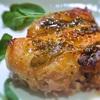 鶏もも肉のハニーマスタード焼き、セージ風味