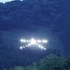 酒田市・大沢地区の山の「大」文字にライトを設置、点灯に成功!大沢地区の方々の行動力と実行力に感服。そして感動。