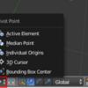 【Blender】【基本操作】ピボットポイントと原点操作、座標系の切り替え