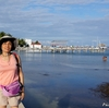 ベリーズ 背景はアンバーグリス島の海岸線