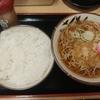 三越前【そばよし本店】たぬきそば ¥340+並ライス ¥180