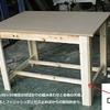 桧材の下地材を組み合わせた作業台の簡易納まり例