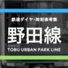 【アーバンパーク】東武野田線の時刻表考察《2017.4.21ダイヤ改正》