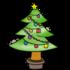 かわいいクリスマスツリー のイラスト