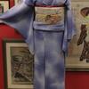 暈しにトンボのジョーゼット小紋×菖蒲織名古屋帯
