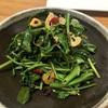 空芯菜のペペロンチーノ風ホットサラダ