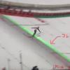 スキージャンプの緑のレーザーの線は何?