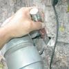 排水改良1−1(よくある会所枡の穴あき補修の例)