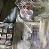 つまみ細工  生地の染色  準備物と下準備