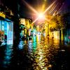 ベトナムホーチミン市の日常生活での水害