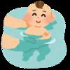 初めての沐浴