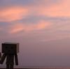 豊浦町 夕暮れ時の豊浦海浜公園