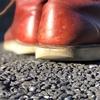 新品のレッドウイングは靴擦れ対策必須です。
