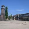 旧時報鐘楼と赤石楽舎(伊勢崎市地域交流センター)