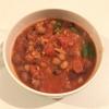 ズボラ節約ご飯~晩ご飯:包丁要らず!トマトと豆のスープ