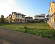 住宅街の空き地2  – 空き地の雑草