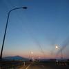 午前4時前の鳥海山。