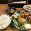 禁酒日のディナー(鶏カラ定食)