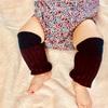 赤ちゃん用レッグウォーマーの超簡単な作り方【靴下をリメイク】