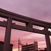 岸和田天神宮から夕焼けを狙う