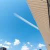 高輪ゲートウェイ駅にて撮影。医療従者への感謝の気持ちを込めて。コロナ禍の東京上空をブルーインパルスが航過飛行!