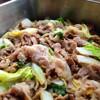 豚と白菜のピリ辛炒め