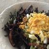 二ガニガ葉物 ベーコンと編 ミモザ卵つき