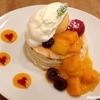 6月限定のたっぷりマンゴーパンケーキ@voivoi