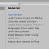 スクリプトの変更がUnityに自動で反映されない>AutoRefreshにチェック!