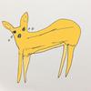 以前描いた「泣いている鹿」を色付きにしてみました!
