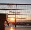 伊達市 有珠SAから眺めた夕日