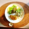 カジキソテー、ささみフライ、マカロニサラダ、野菜炒め