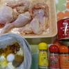鶏を一羽、ハサミで解体、下ごしらえ。
