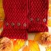 【棒針編み】バスケット模様のヘアバンドの編み図と作り方・後編